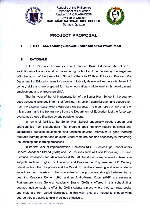 Proposal Page 1